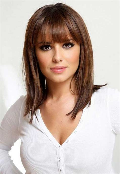 15 medium length bob with bangs bob hairstyles 2018