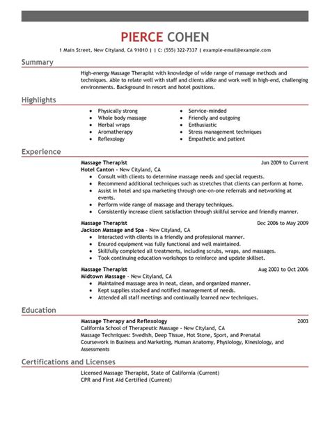 Therapy Resume Objectives by Therapist Description For Resume Recentresumes