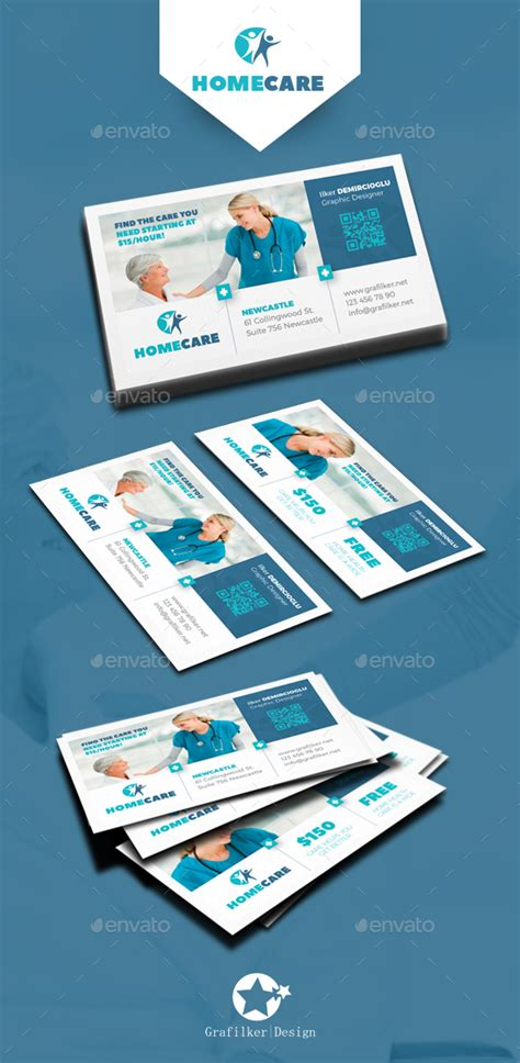 health care business card templates home health care business card templates by grafilker
