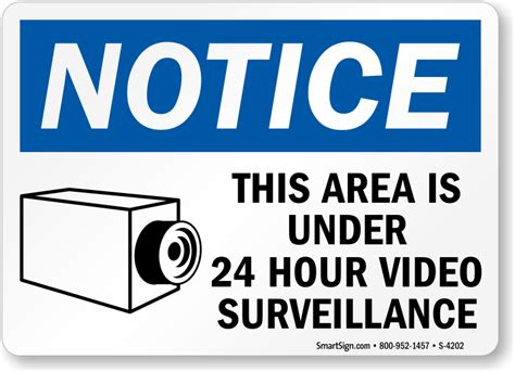 area under surveillance signs signs ship free