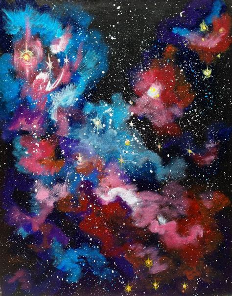 acrylic painting a galaxy 264 best the sherpa free acrylic lesson gallery