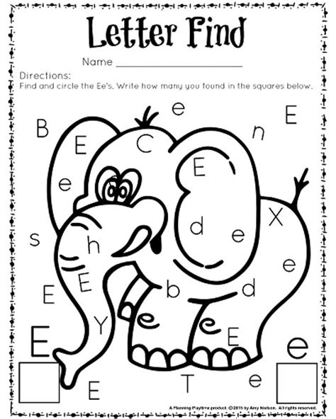 letter e preschool printable activities cute letter find worksheets with a freebie worksheets