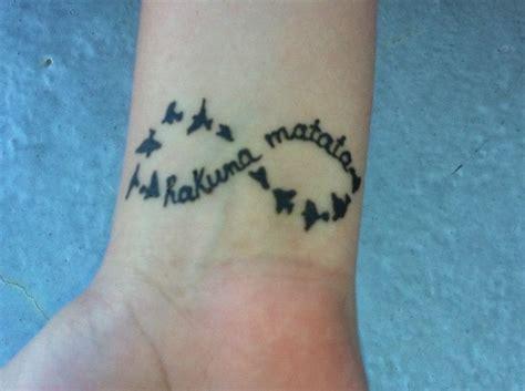 infinity tattoo hakuna matata hakuna matata infinity tattoo on foot