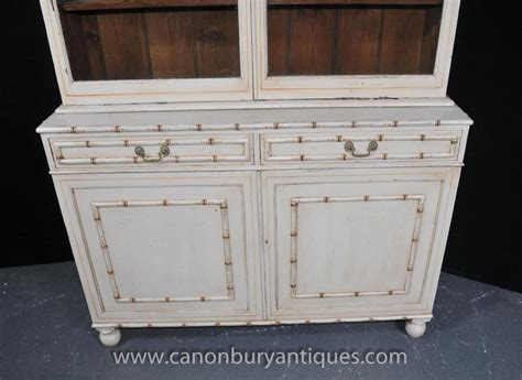Glass Fronted Dresser painted kitchen dresser bookcase glass fronted cabinet