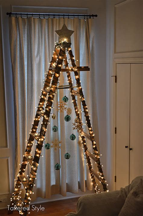 how to make a ladder christmas tree space saving tree ideas for small spaces apartments california apartments
