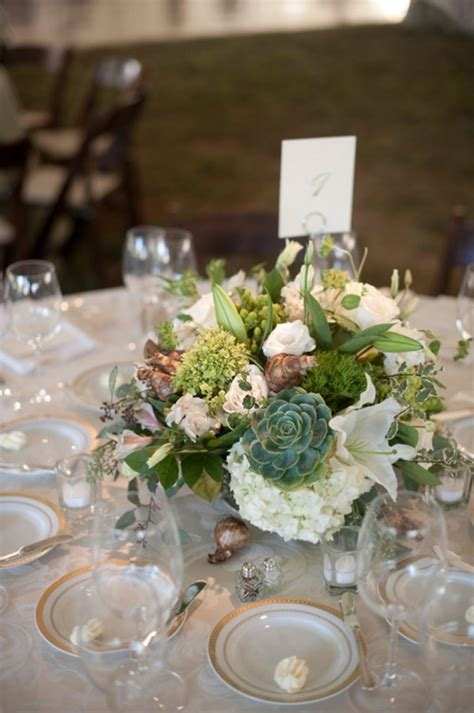 Green And White Succulent Wedding Centerpiece Succulent Succulents For Wedding Centerpieces