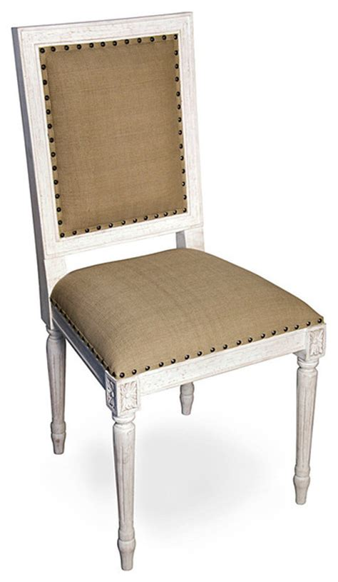 Regency Side Chair White Washed Transitional Dining White Washed Dining Chairs