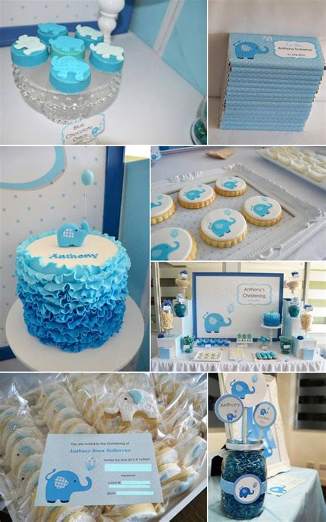 Blue Baby Shower Ideas by Blue Elephant Baby Shower Ideas Baby Shower Ideas