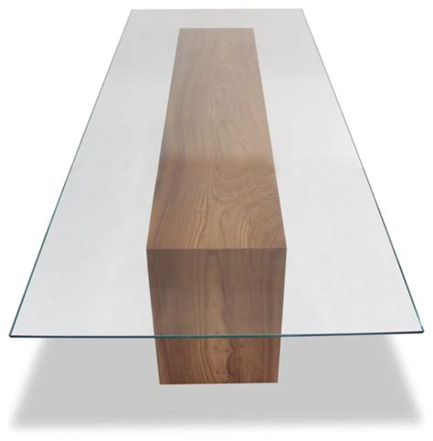 Rotsen Furniture glass top and solid wood dining table contemporary