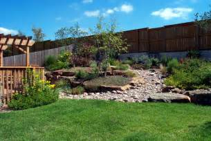 The effective landscape ideas for sloped backyard home