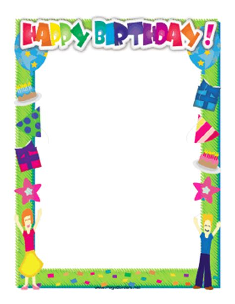 Balloon Png Frames New Calendar Template Site Free Printable Birthday Borders And Frames