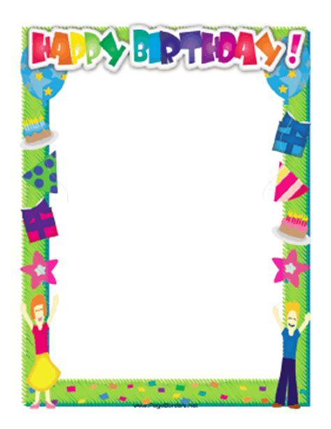 Happy Birthday Border Free Printable Birthday Borders And Frames