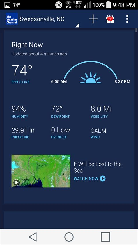 weather channel app android best weather apps 2015