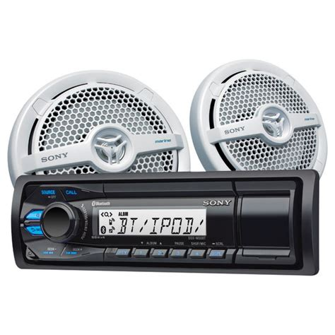 boat stereo west marine sony dxs m50bt marine stereo and speaker package west marine