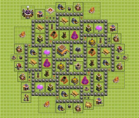 layout for town hall 8 image dream town hall 8 base design png clash of clans