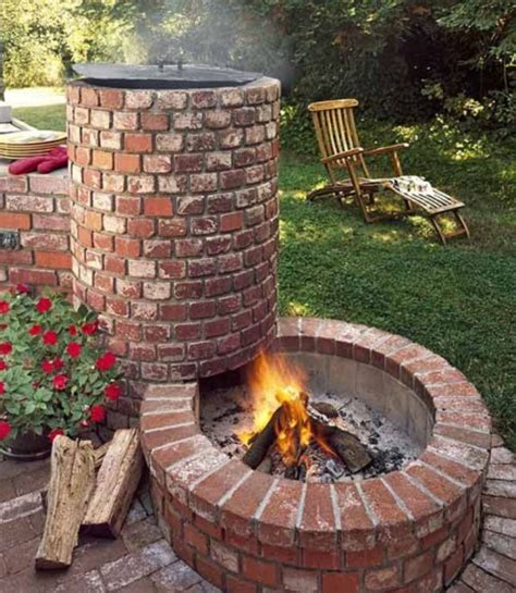 Outdoor Fire Pit Grill Designs Implementation Of Outdoor Backyard Pit Grill