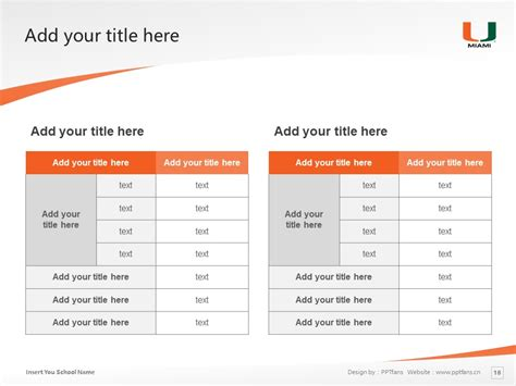 University Of Miami Powerpoint Template Download 迈阿密大学 Of Miami Powerpoint Template