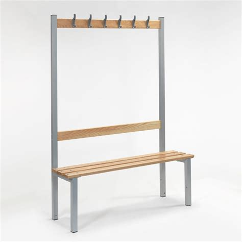 wooden changing room benches single sided bench with hooks for changing rooms