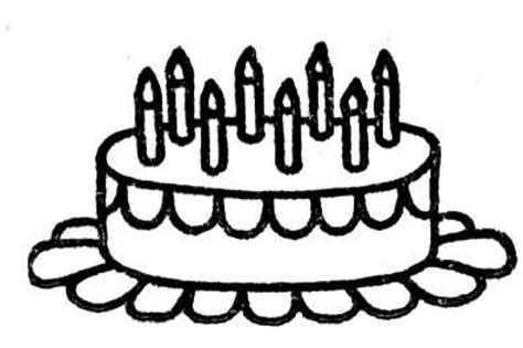 coloring pages of birthday cake with candles clip art