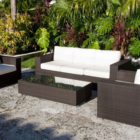 Patio And Outdoor Furniture Source Outdoor King Collection All Weather Wicker Outdoor Conversation Set Modern Patio
