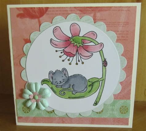 Handmade Mice - mouse handmade card using copics and nestabilities p s
