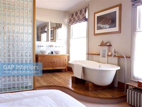 free standing bath in bedroom gap interiors open plan modern bathroom and bedroom