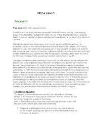 frida kahlo biography book pdf english worksheets frida kahlo