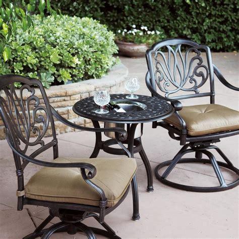 metal patio furniture sets darlee elisabeth 3 cast aluminum patio bistro set