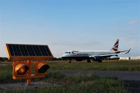 solar powered runway lights solar airfield lighting installed at city