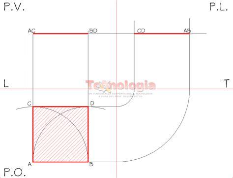 uni pv lettere proiezione ortogonale di un quadrato educazionetecnica