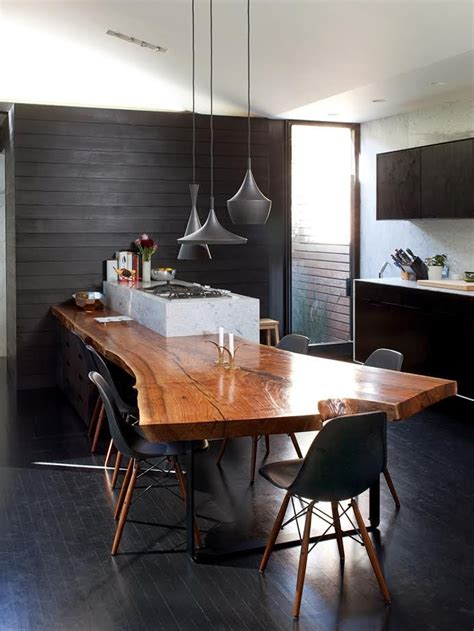 Live Edge Kitchen Table by Pairing With Sleek Designs Through Live Edge Tables