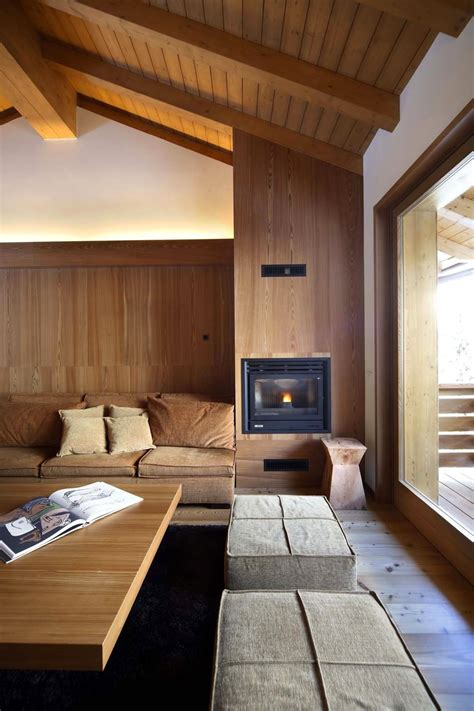 wood interior modern wood house by studio fanetti decoholic