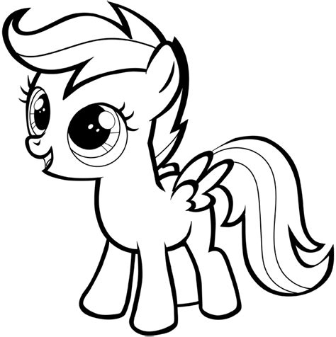 my little pony coloring page mlp scootaloo coloring how to draw scootaloo from my little pony with easy step