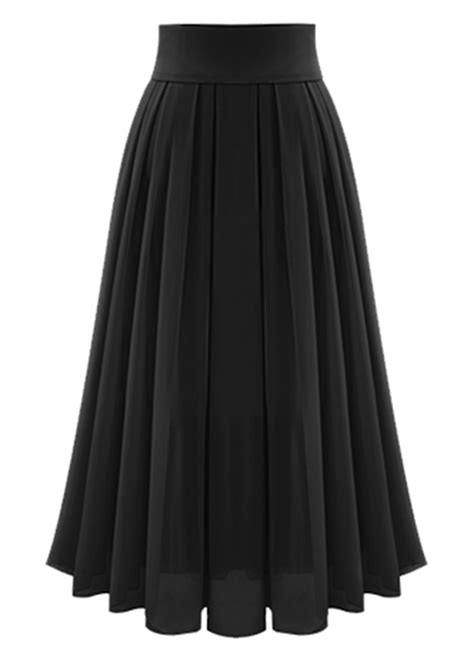 fashion high waist maxi chiffon pleated skirt oasap