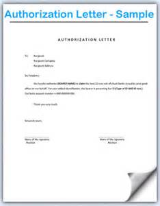 Authorization Letter Format For Documents authorization letter sample format document blogs