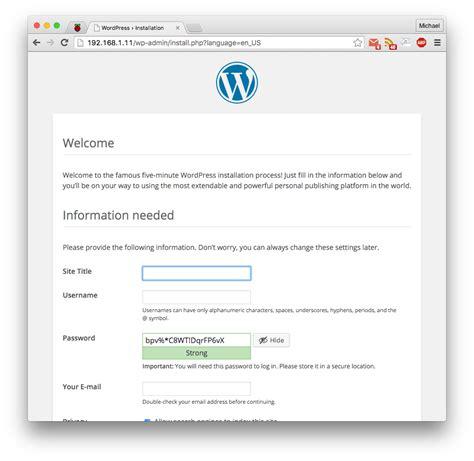 php tutorial raspberry pi create a wordpress site on raspberry pi electronics lab