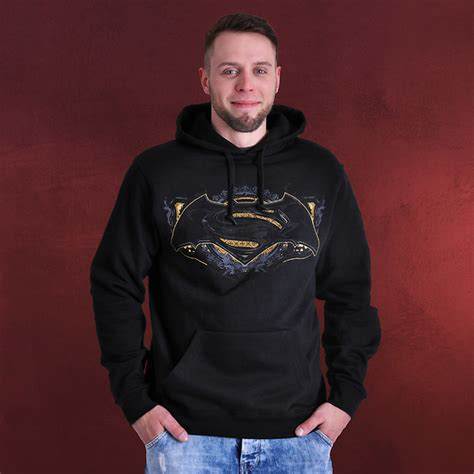 Hoodie Batman V Superman 2 batman v superman gotham guardian hoodie schwarz elbenwald