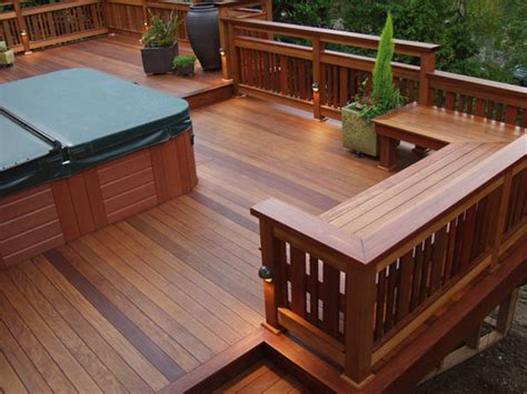 build bench on deck sit on it deck benches any time is deck time tips