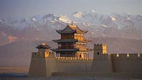 The China jiayuguan on the great wall china walldevil