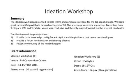 Request Letter Format For Attending Workshop Big App Challenge 2014 Post Mortem Report