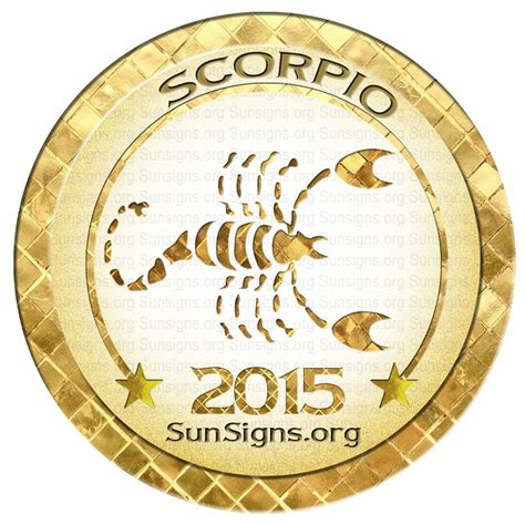 scorpio horoscope 2015 predictions sun signs