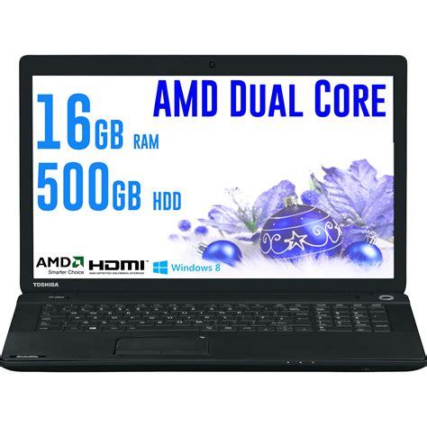toshiba c70d a 111 17 3 inch laptop amd dual e1 2100 16gb ram 500gb hdd dvd ebay