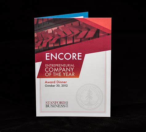 Stanford Mba Invitations 2018 by Encore Award Dinner Invitation On Behance