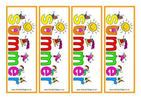 printable summer reading bookmarks summer fun bookmarks