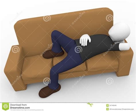 Lying On A Sofa by Lying On The Sofa Royalty Free Stock Photo Image