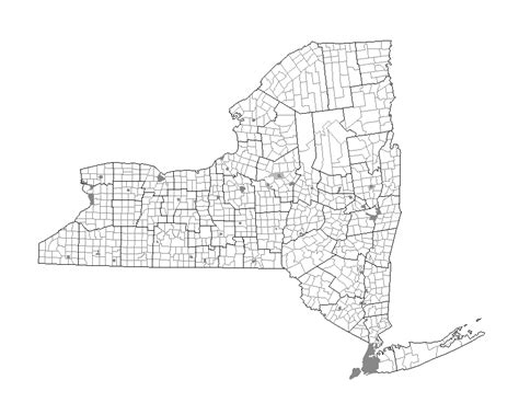 map new york state towns map of new york state with major cities
