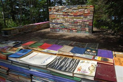 Book Garden by Living Garden Of Knowledge Made From 40 000 Books