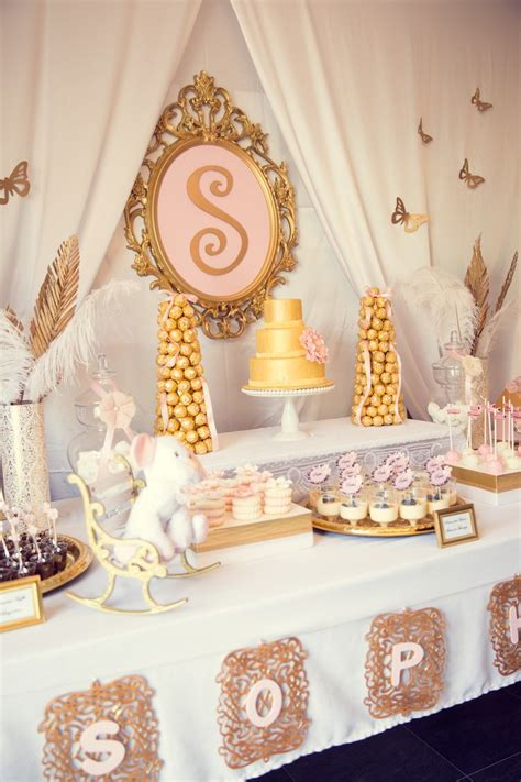 Gold Baby Shower by Kara S Ideas Pink Gold Baby Shower