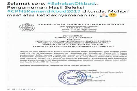 Contoh Surat Lamaran Cpns Kemendikbud by Cpns Kemendikbud Lengkap