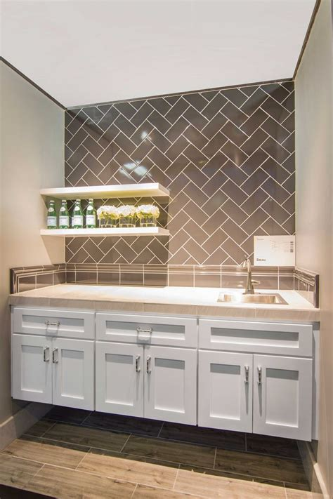 home bar designs counter backsplash tile imperial pewter gloss ceramic subway tile https